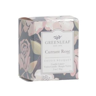 Currant Rose Candle Cube Votive - New Design
